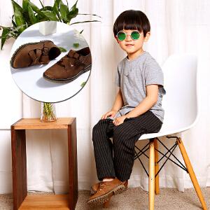梓缇童鞋 儿童皮鞋 男童女童皮鞋软面皮网鞋亲子鞋 新款休闲鞋运动鞋