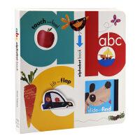 【中商原版】儿童字母启蒙触摸翻翻书 英文原版 My ABC Alphabet Book 推拉纸板书