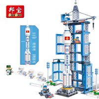 【小颗粒邦宝益智儿童礼物积木玩具神十火箭航天纪念品礼物6401