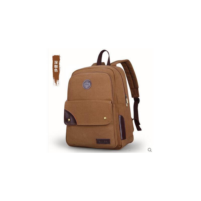 男士 旅行包双肩包  运动休闲小书包  帆布欧美时尚帆布背包   男包