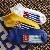 春秋新品男士短袜百搭船袜时尚个性男袜子纯棉浅口运动全棉袜潮 均码