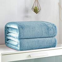 珊瑚绒毯子加绒床单单件绒毯单人法兰绒沙发午睡空调毯盖腿小毛毯定制 兰