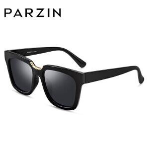 帕森偏光太阳眼镜 女士复古轻盈TR镜框潮墨镜驾驶镜 9857