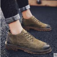 鞋子男潮鞋韩版男士休闲鞋靴布洛克皮鞋男英伦复古马丁鞋男鞋抖音同款网红时尚户外新品
