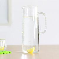 家用冷水壶1.5升玻璃耐热高温晾凉白开水杯扎壶防爆大容量透明水瓶凉水壶果汁壶家用茶壶带盖