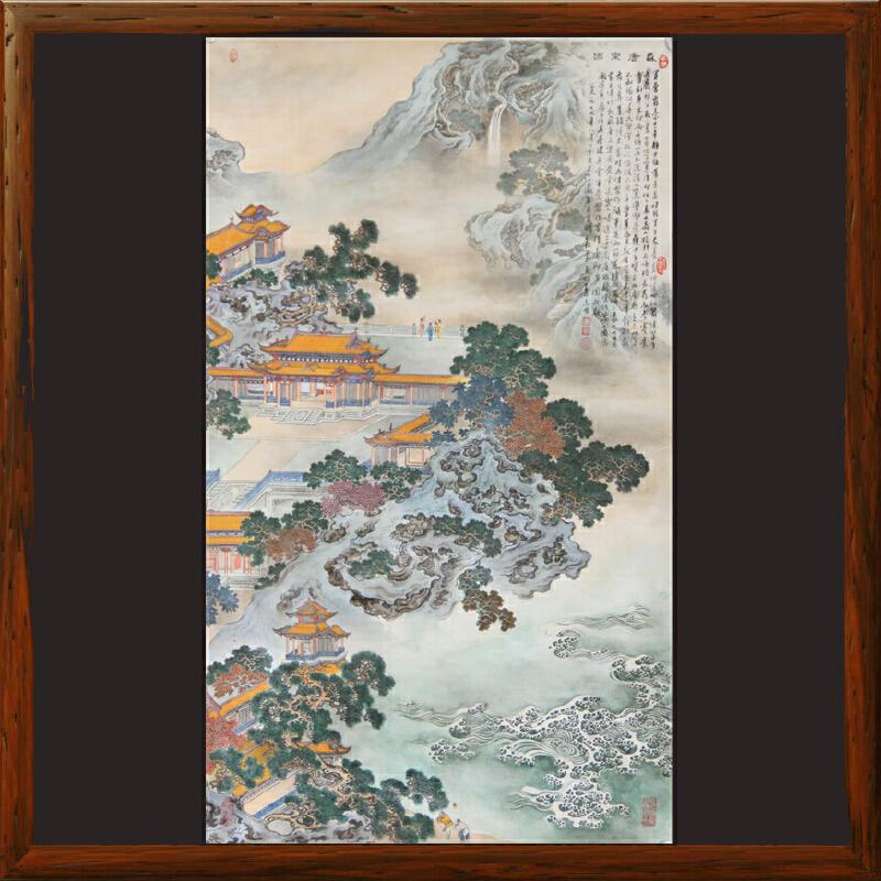 宫廷画风系列《盛唐乐园》世界名人文化村村长,中华两岸书画家协会主席