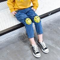 女童牛仔裤春装2018新款 儿童休闲裤韩版洋气3-7岁宝宝长裤潮童装 图片色