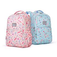 【限时1件5折】卡拉羊双肩包女帆布高中学生书包大容量背包旅行包防水电脑包潮CX5357