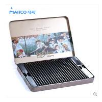 【Marco马可】专业美术雷诺阿24/36/48色黑木油性彩色铅笔3200