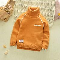 2017装新款婴儿童装男童高领毛衣套头加绒打底衫宝宝加厚针织衫