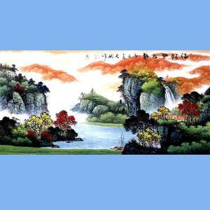 中国青年美术家协会常务理事,中国山水画院专业画家,国家一级美术师高云鹏(传)情碧水静