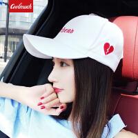 【限时秒杀】Coolmuch棒球帽四季百搭甜美爱心鸭舌帽夏季女士街头风遮阳帽CMMZ001