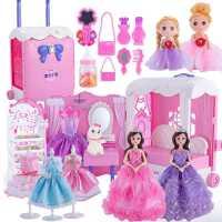 嘿喽芭比洋娃娃梦想豪宅套装超大礼盒公主玩具女仿真精致衣服换装