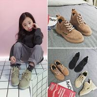 女童鞋2018秋冬新款靴子男童真皮棉靴保暖儿童二棉短靴女孩马丁靴
