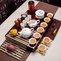 包邮 中国高档白玉瓷功夫茶套装 整套茶具套组 陶瓷茶具套装特价茶具