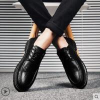 男士休闲皮鞋户外新品男韩版商务正装男鞋抖音同款网红时尚新款百搭英伦鞋子男潮鞋