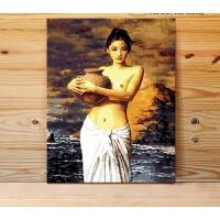 数字油画diy 手工填色油彩装饰画礼物 梵高杏花 40x50cm 绷好加厚实木内框整套