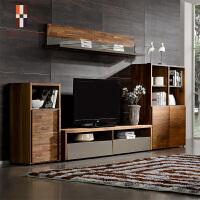 挪亚北欧家具电视柜组合背景墙柜现代简约客厅小户型实木装饰墙柜 组装