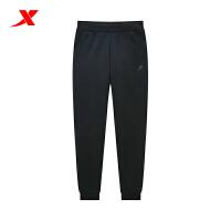 特步女款针织长裤修身纯色长裤女裤子982428631547