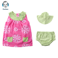 美国直邮 Gerber嘉宝粉色绿色连衣裙2件套 包邮包税