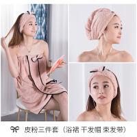 君别韩版可穿式浴裙女抹胸浴巾比吸水可爱家用美容院浴袍浴衣速干