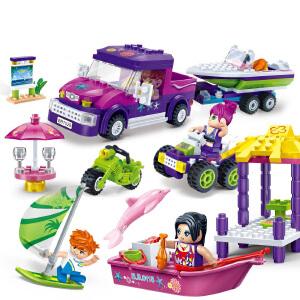 【当当自营】邦宝媚力沙滩之帆船俱乐部321粒益智小颗粒拼装积木玩具5岁以男孩女孩上儿童礼物6139