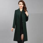 中老年大码秋冬季新款外套妈妈装中年女装中长款风衣   bj-F186-168