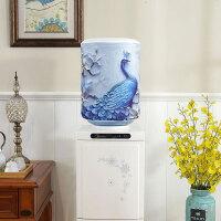 饮水机罩 小清新韩版新款弹力家用饮水机桶罩印花双面布艺饮水机防尘罩