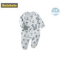 巴拉巴拉婴儿连体衣新生儿宝宝衣服外出哈衣爬爬服抱衣满印连衣裤
