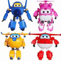 奥迪双钻 超级飞侠公仔玩偶 儿童玩具 变形机器人小飞机 乐迪 多多 酷飞 小爱 主角4只组合装