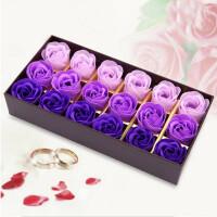 (18朵)浪漫礼品咖啡盒玫瑰花皂花玫瑰礼盒女友女生老婆闺蜜生日礼品--颜色随机XZH8052