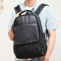 双肩包男款休闲男士背包韩版电脑包旅行包中学生书包