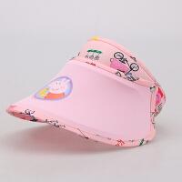 儿童太阳帽男女童空顶遮阳帽夏季宝宝防晒帽出游海边沙滩帽凉帽子