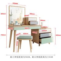 20190105062936765北欧现代梳妆台卧室简约伸缩化妆台床头柜一体桌多功能ins化妆桌 组装