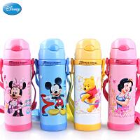 迪士尼儿童保温杯 304不锈钢软吸管水壶 5672/5673