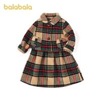 【1.20年�� 3件4折: 279.2】巴拉巴拉女童洋�馓籽b秋冬�和��杉�套童�b�����B衣裙洋��