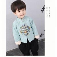 男童汉服中国风刺绣童装民族风儿童周岁唐装套装1-5岁宝宝秋装3
