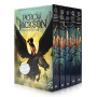 Percy Jackson and the Olympians 5 Book Paperback Boxed Set (new covers w/poster)波西杰克森与奥林匹亚5本合集 青少年科幻