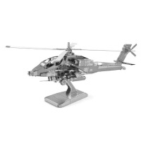 全金属 DIY拼装模型 3D纳米 AH64阿帕奇 直升飞机 战斗机 金属模型