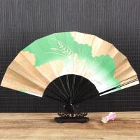 舞蹈折叠扇cosplay金面筷子日式十骨扇和风扇动漫扇寄明月舞蹈扇折扇