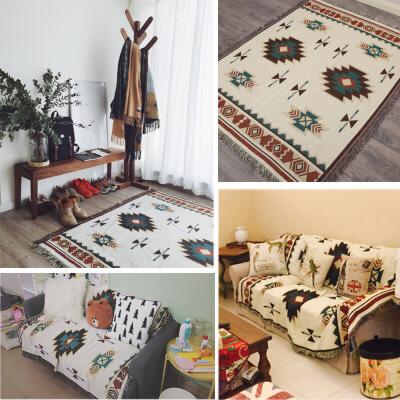 君别北欧几何图案毛毯加厚沙发装饰毯子沙发巾座垫全盖沙发套罩地垫