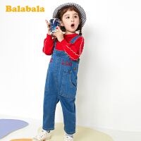 巴拉巴拉童装女童裤子春季2020新款小童宝宝长裤儿童牛仔裤背带裤