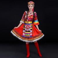 藏族舞蹈演出服2017新款春少数民族服装西藏衣服广场舞套装女