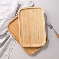 光一家用简约茶盘现代个性客厅单盘长方形竹茶盘竹制托盘木质放茶具的