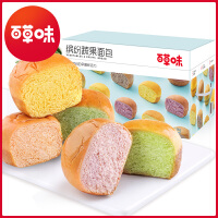 【百草味-�_�蔬果面包1kg】�I�B粗�Z谷物早餐手撕面包整箱