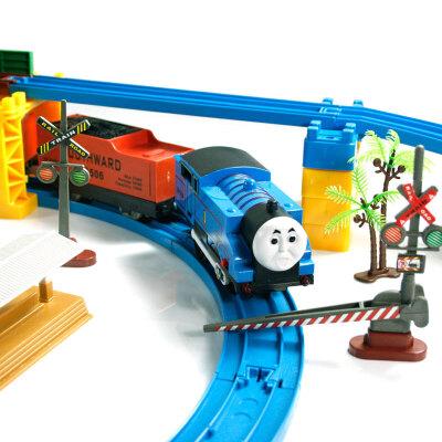 大型托马斯轨道火车电动玩具车声光版益智儿童玩具双层轨道火车