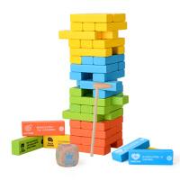 益龙灵(YILONGLING) 儿童益智彩色叠叠乐 抽木条积木 层层叠抽抽乐积木塔互动游戏