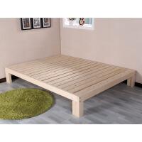 ��木床架��s��木榻榻米床�稳穗p人松木床床架子1米1.2米1.5米1.8米可定做
