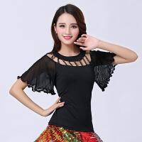 春夏时尚新款成人广场舞服装套装大摆裙广场舞表演演出服两件套