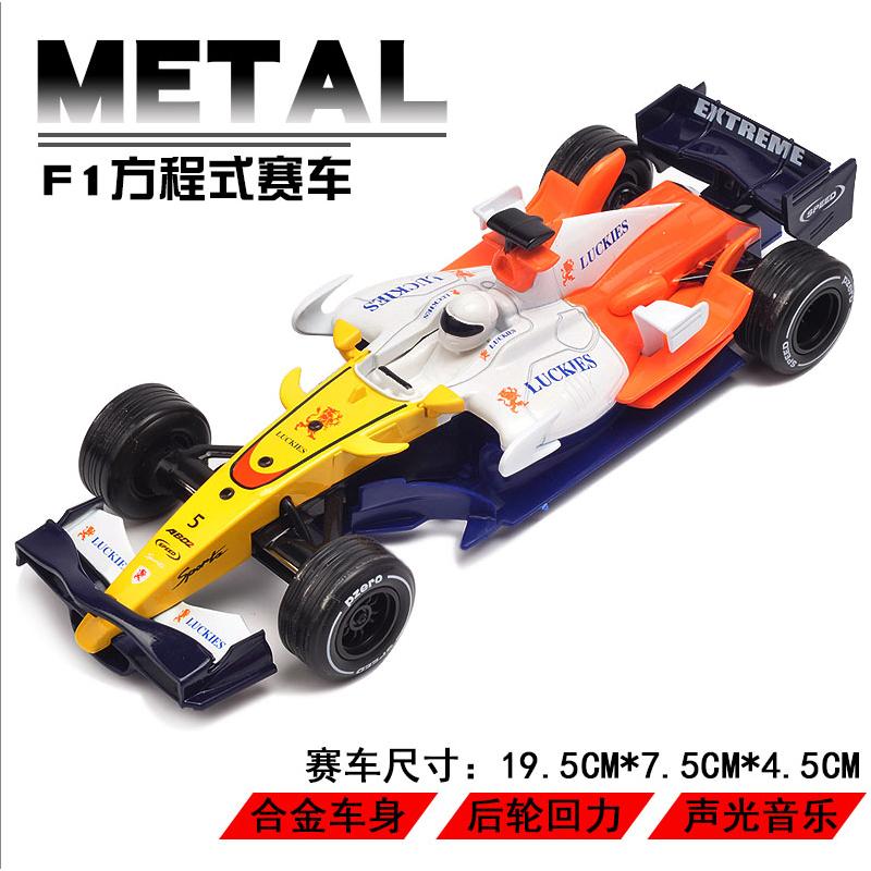 F1方程式赛车合金声光回力车模儿童玩具小汽车仿真跑车模型 合金车身 后轮回力 声光音效